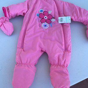 Baby one piece cozy pink jacket